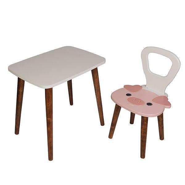 ست میز و صندلی کودک مدل خوک