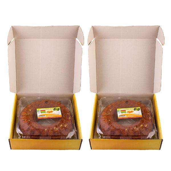 کیک روغنی هویج گردو مهفام - 620 گرم بسته 2 عددی