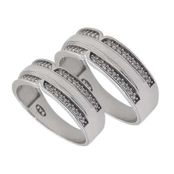 ست انگشتر نقره زنانه و مردانه مدل sf-jna10