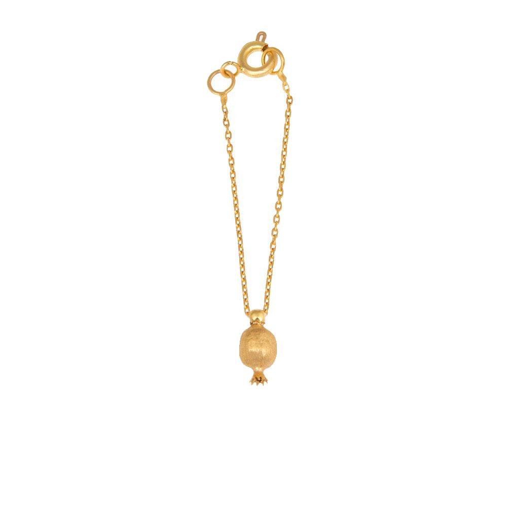 آویز ساعت طلا 18 عیار زنانه گالری مرجان طرح انار مدل 1020