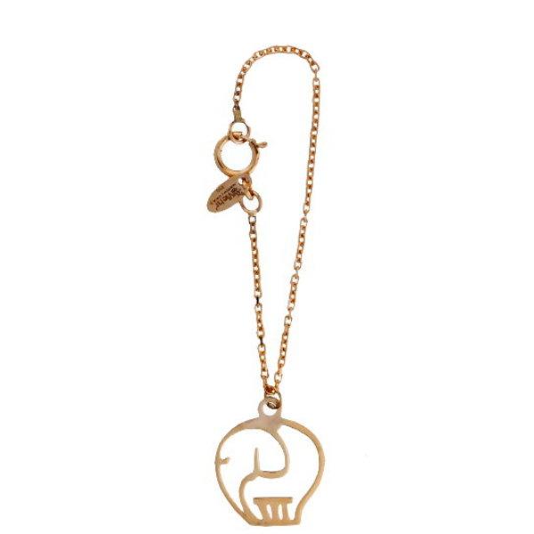 آویز ساعت طلا 18 عیار زنانه آمانژ مدل فیل کد D2989