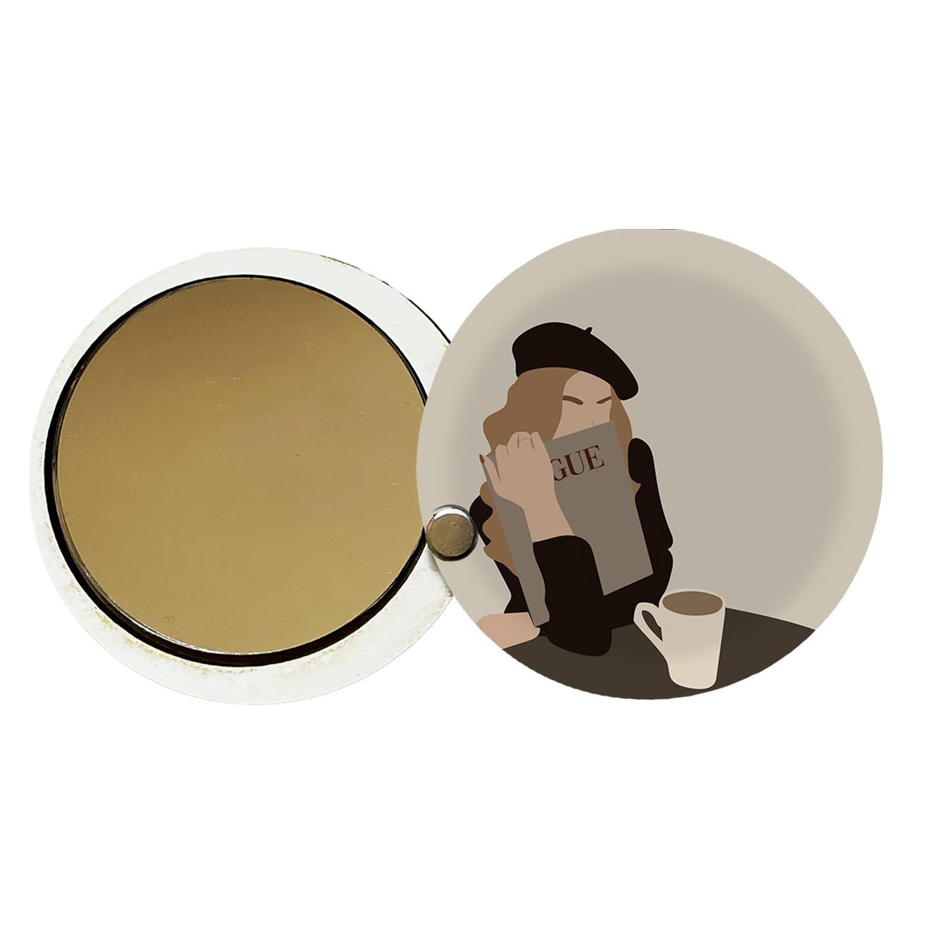 آینه جیبی طرح دخترانه کد ay95