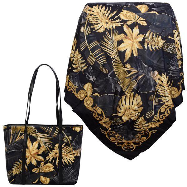 ست کیف و روسری زنانه کد 981018-T1