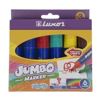 ماژیک 6 رنگ لاکسر مدل jumbo marker کد 6190