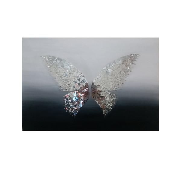 تابلو آینه کاری مدل پروانه کد ۲۵۱۵