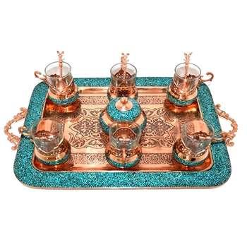 سرویس چای خوری فیروزه کوبی مدل 020