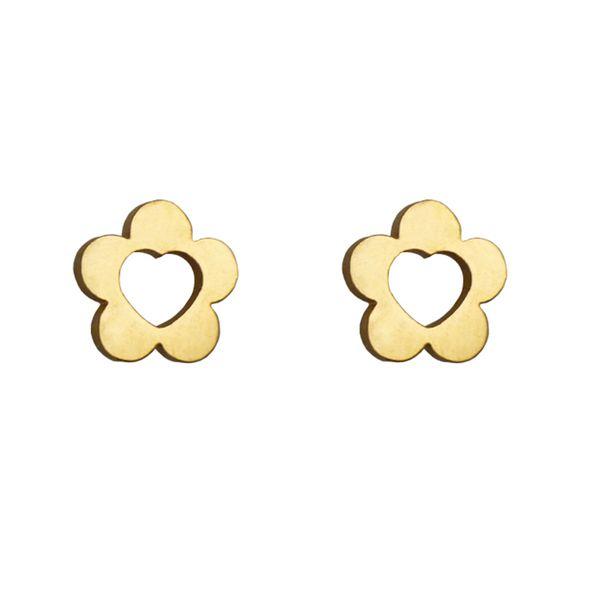 گوشواره زنانه طرح گل و قلب کد021