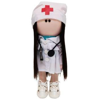 عروسک طرح روسی مدل خانم دکتر ارتفاع 30 سانتی متر