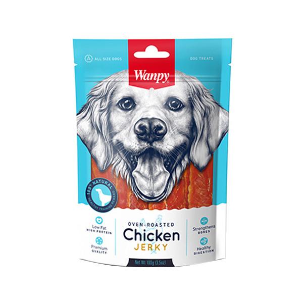 تشویقی سگ ونپی مدل Chicken Jerky وزن 100 گرم