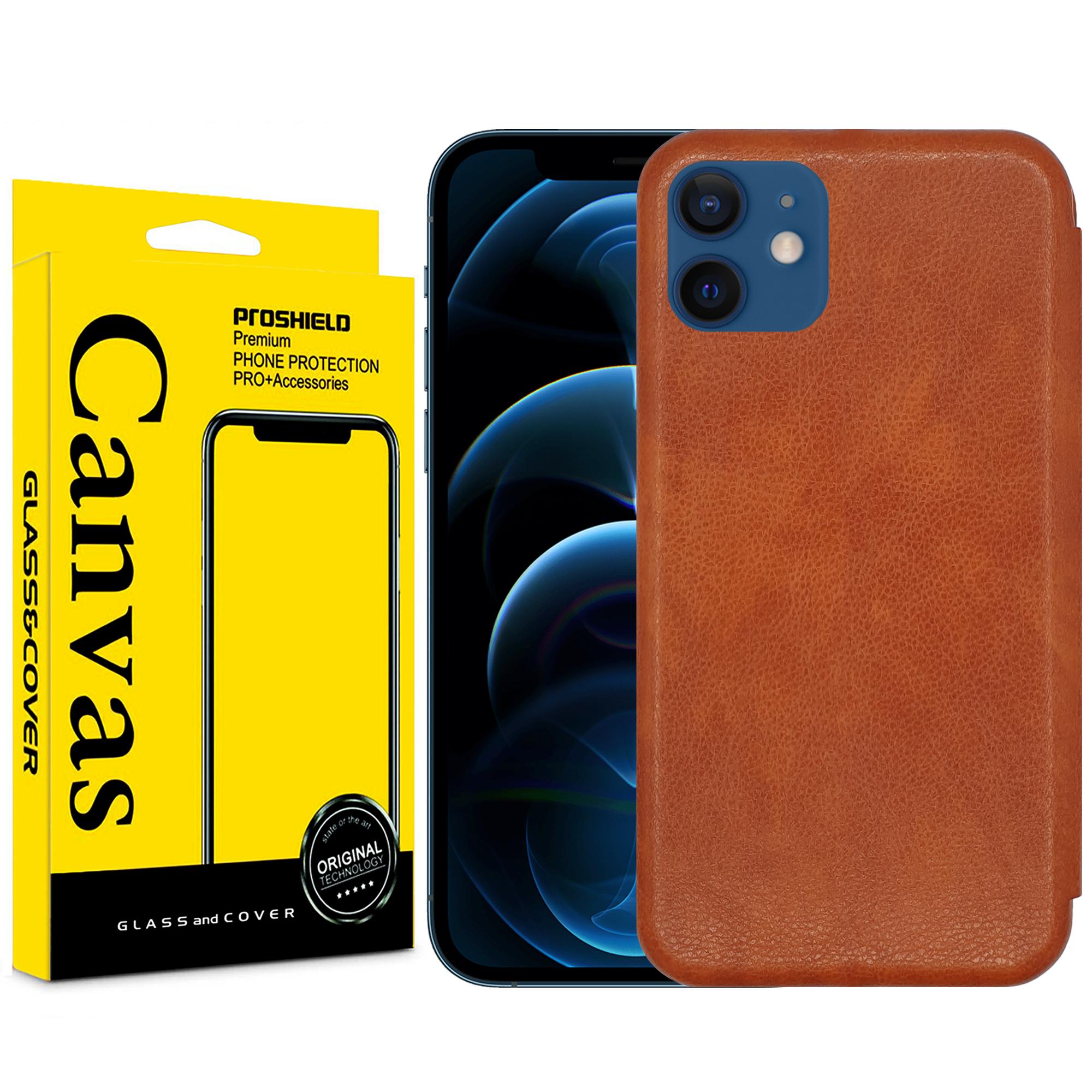 بررسی و {خرید با تخفیف} کیف کلاسوری کانواس مدل MAX SERIES مناسب برای گوشی موبایل اپل IPHONE 12/12 PRO اصل