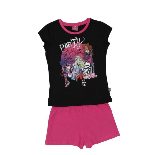 ست تی شرت و شلوارک دخترانه مانستر های مدل 11-2-137