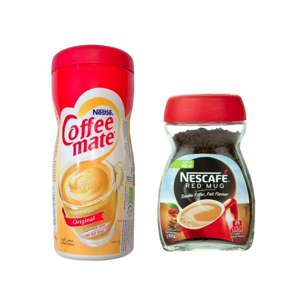 قهوه فوری رد ماگ نسکافه - 50 گرم به همراه کافی میت نستله - 170 گرم