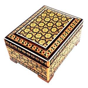 جعبه جواهرات خاتم کاری سعید آرا مدل میتا کد A3