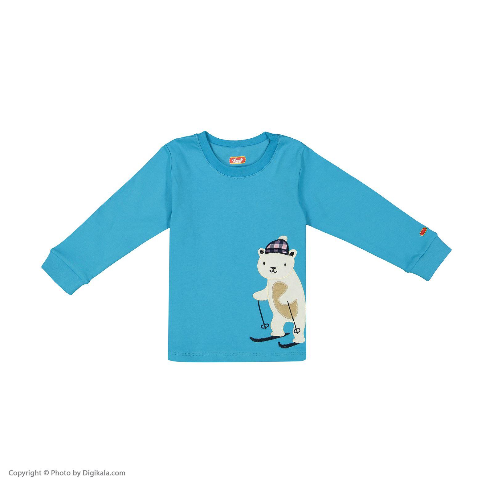 ست تی شرت و شلوار پسرانه مادر مدل 318-53 main 1 2