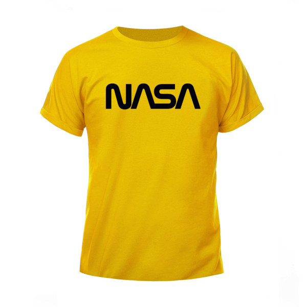 تیشرت آستین کوتاه مردانه مدل ناسا کد H43 رنگ زرد تخم مرغی