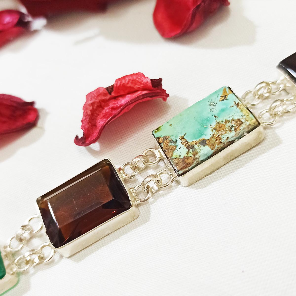 دستبند نقره زنانه سلین کالا مدل جواهری ce-As121