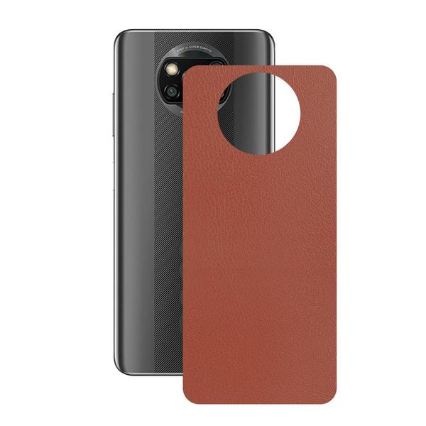 برچسب پوششی راک اسپیس طرح  Leather-BR مناسب برای گوشی موبایل  شیائومی POCO X3 Pro