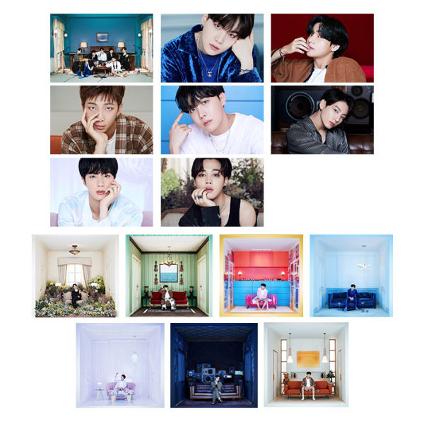 آویز تزیینی آبنبات رنگی طرح آلبوم BTS- BE کد PAK004 مجموعه 15 عددی