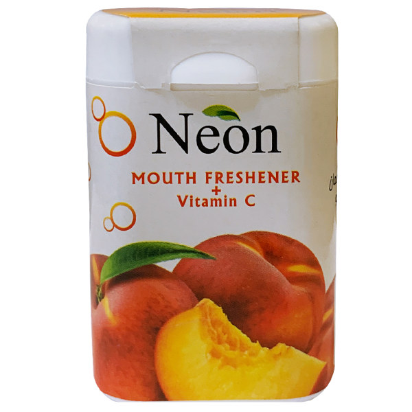 قرص خوشبو کننده دهان نئون با طعم هلو  - 15 گرم