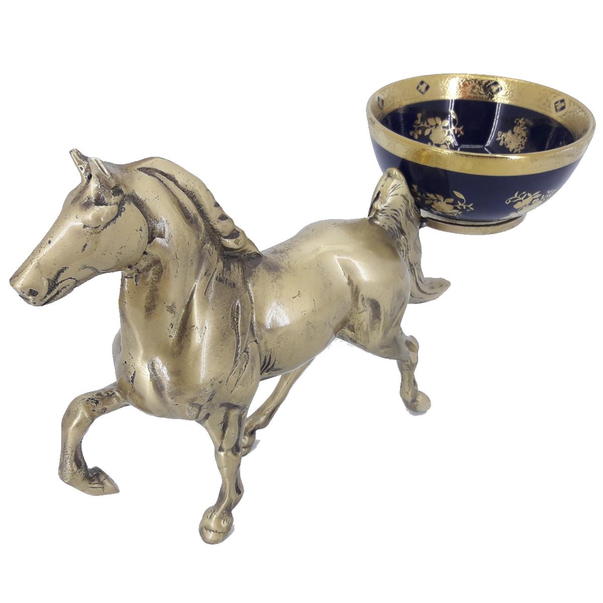 آجیل خوری برنزی مدل اسب
