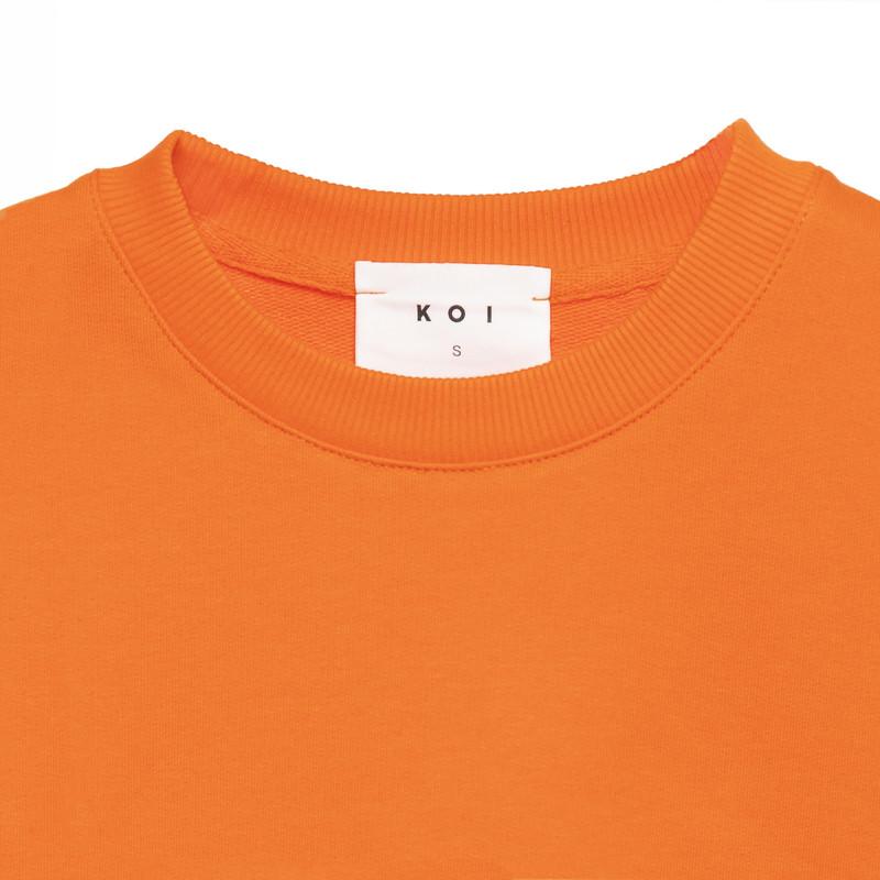سویشرت زنانه کوی مدل 200 رنگ نارنجی