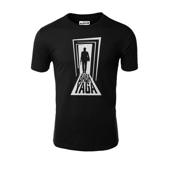 تیشرت آستین کوتاه مردانه فانتازیو مدل 211 طرح Baba Yaga کد SJW003