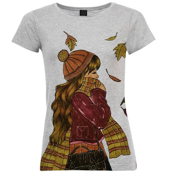 تی شرت زنانه طرح پاییز کد B38