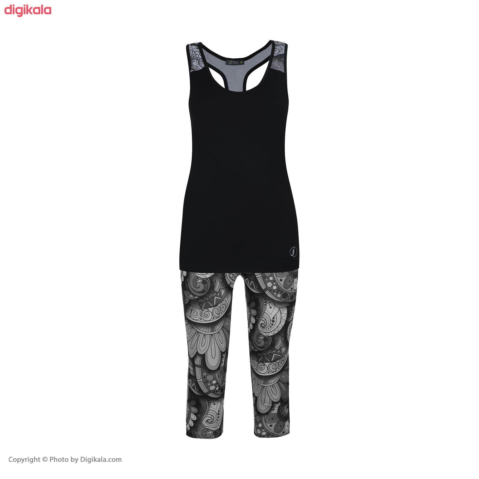 ست تاپ و شلوارک ورزشی زنانه کد jog main 1 1