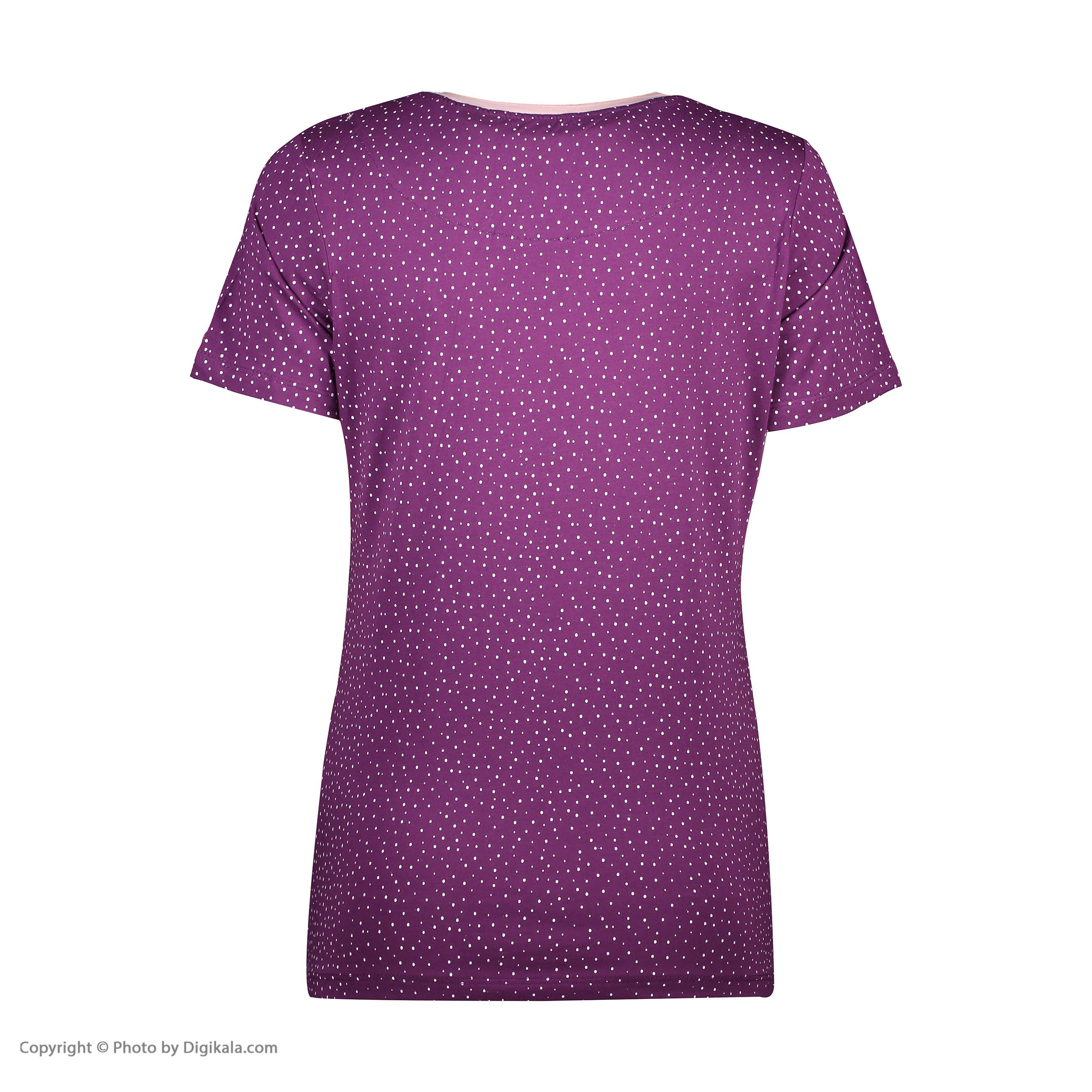 ست تی شرت و شلوارک راحتی زنانه مادر مدل 2041102-67 -  - 6