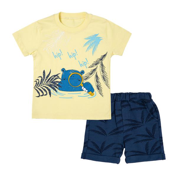 ست تی شرت و شلوارک نوزادی فیورلا مدل 21029