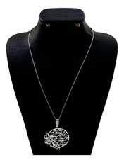 گردنبند نقره زنانه دلی جم طرح جان و جهانی و جهان با تو خوش است کد D 58 -  - 1