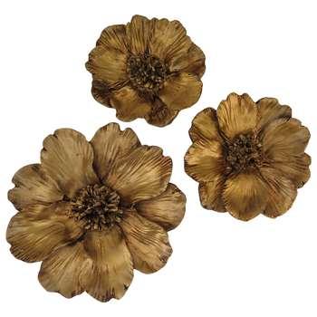 دیوارکوب طرح گل زنبق مدل PE-NZ080 مجموعه سه عددی