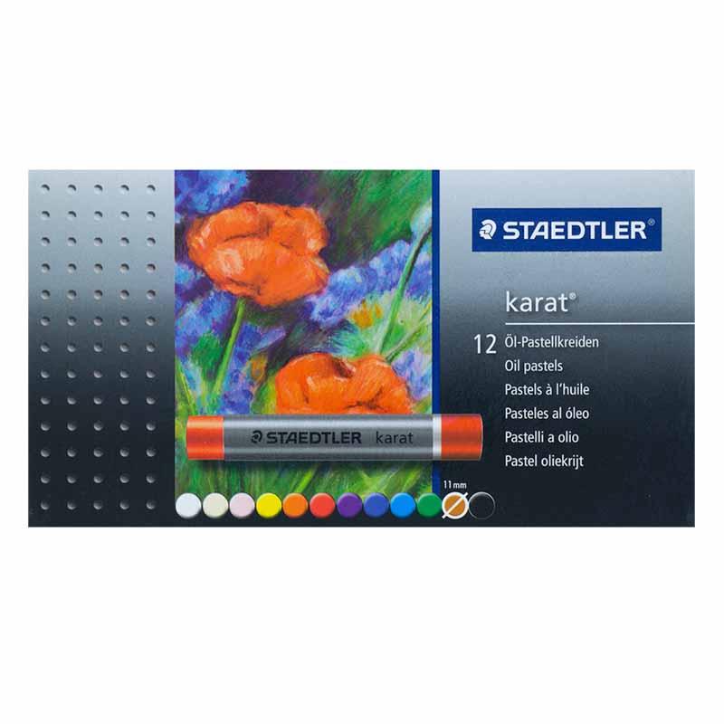 پاستل روغنی 12 رنگ استدلر مدل Karat کد 100760