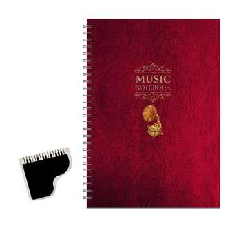 دفتر نت موسیقی 50 برگ پیکولو استودیو مدل Classic به همراه نشانگر کتاب