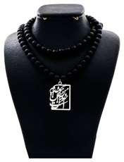 گردنبند نقره زنانه دلی جم طرح من محو خدایم و خدا آن من است کد D77 -  - 1