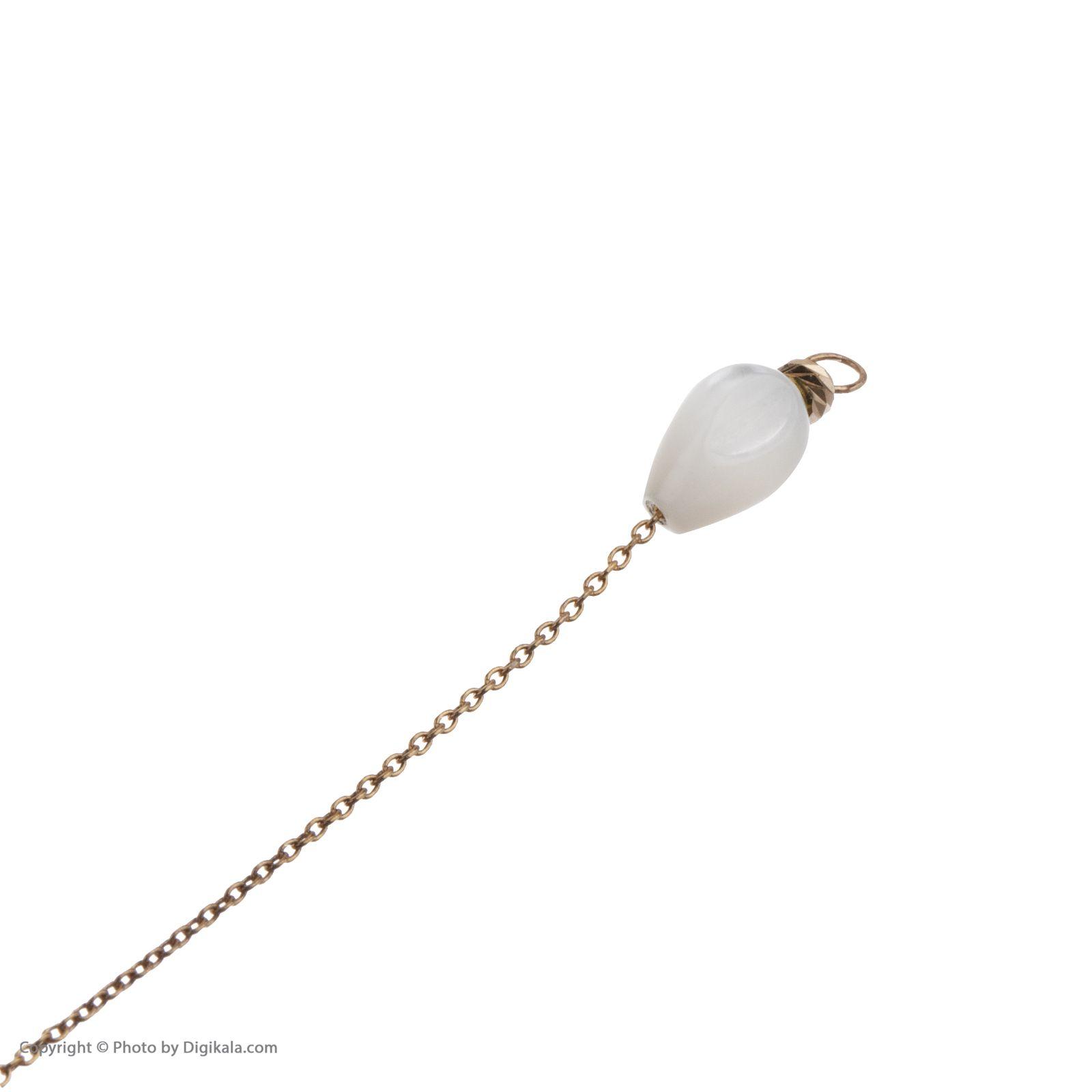 گوشواره طلا 18 عیار زنانه مایا ماهک مدل ME0852 -  - 6