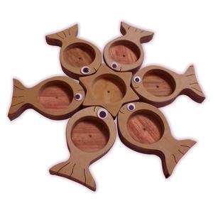 ظرف چوبی مدل هفت سین ماهی