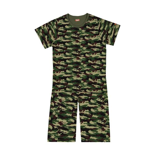 ست تی شرت و شلوارک راحتی پسرانه مادر مدل 2041108-49