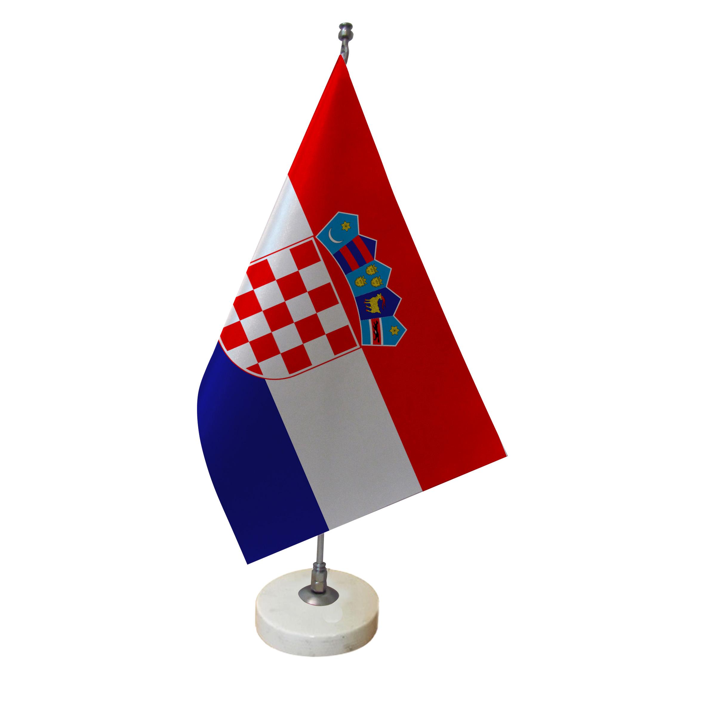 خرید                      پرچم رومیزی طرح کشور کرواسی کد pr57