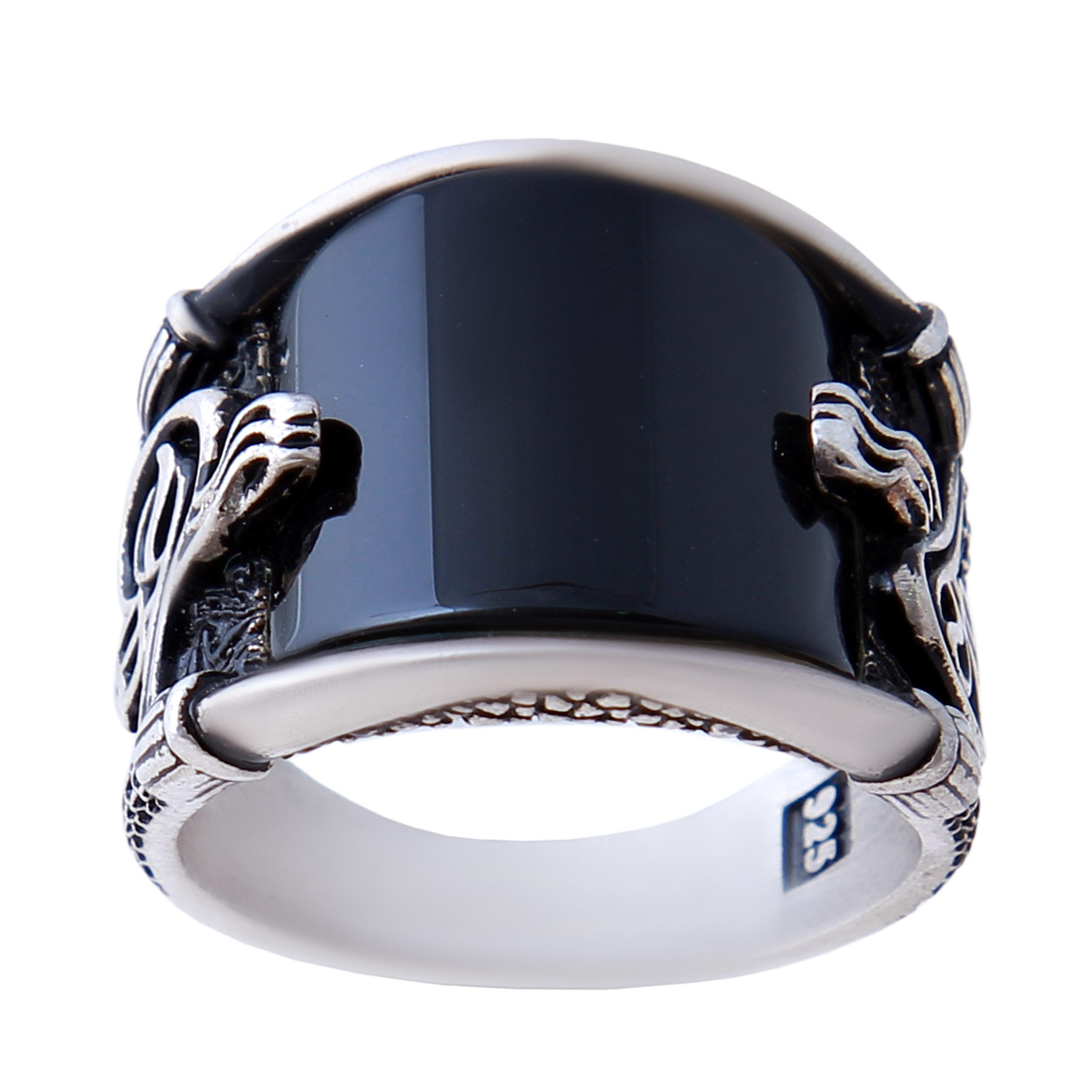انگشتر نقره مردانه بازرگانی میلادی کد AM-513