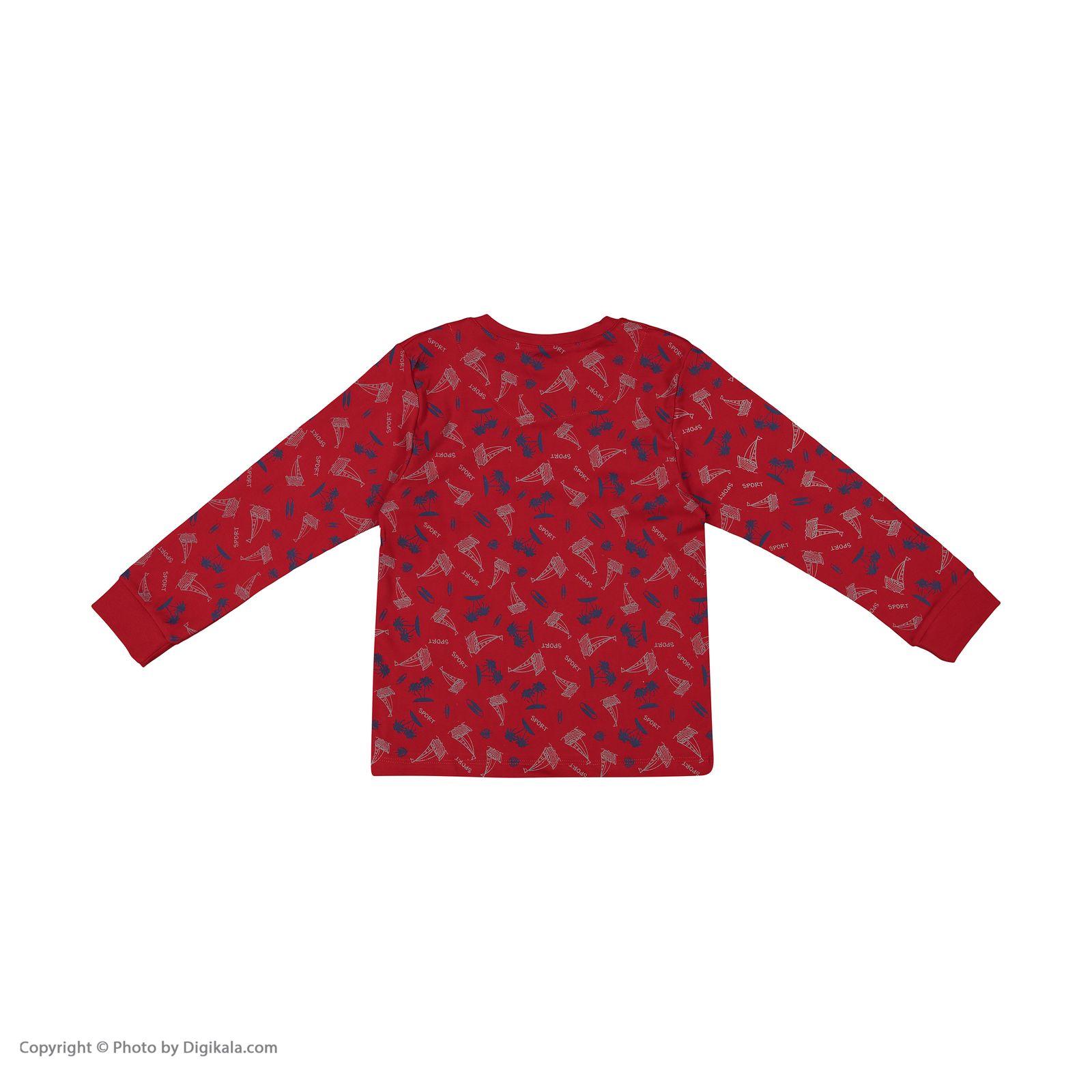 ست تی شرت و شلوار پسرانه مادر مدل 306-72 main 1 3