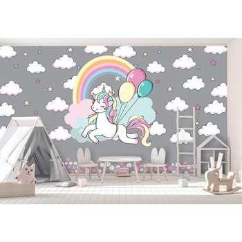 پوستر دیواری اتاق کودک طرح یونیکورن کد p20