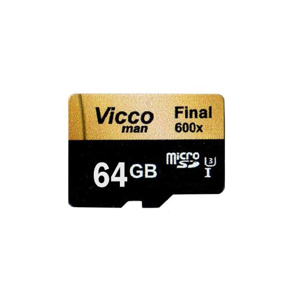 کارت حافظه microSDXC ویکو من مدل Final 600X Plus کلاس 10 استاندارد UHS-I U3 سرعت 90MBps ظرفیت 64گیگابایت