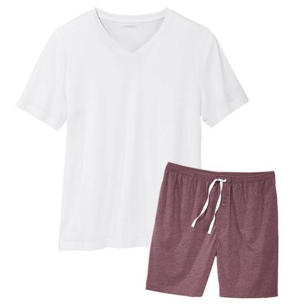 ست تی شرت و شلوارک مردانه لیورجی مدل 2093276 رنگ صورتی
