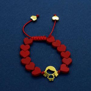 دستبند طلا 18 عیار دخترانه کانیار گالری مدل BB2