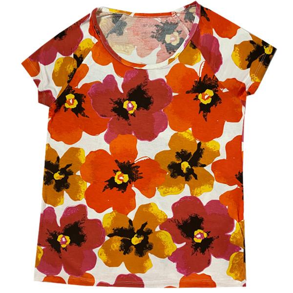 تی شرت آستین کوتاه زنانه اسمارا مدل 01245