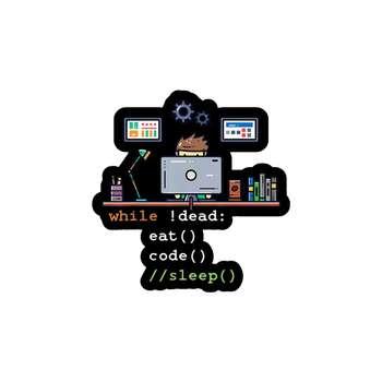 استیکر لپ تاپ لولو طرح برنامه نویس کد 321