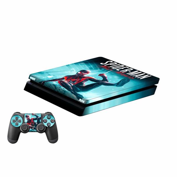 برچسب پلی استیشن ۴ اسلیم و دسته بازی پلی اینفینی مدل Spider-Man Miles Morales
