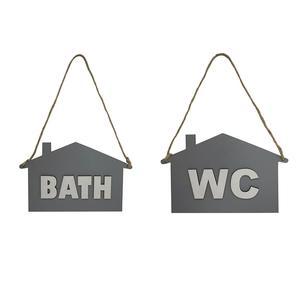 تابلو نشانگر طرح سرویس بهداشتی و حمام کد TOSمجموعه 2 عددی