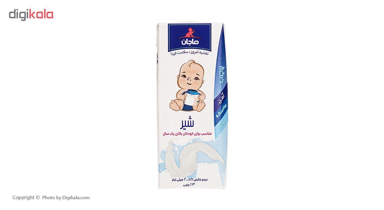 شیر پر چرب غنی شده ماجان کاله مقدار 200 میلی لیتر بسته 6 عددی